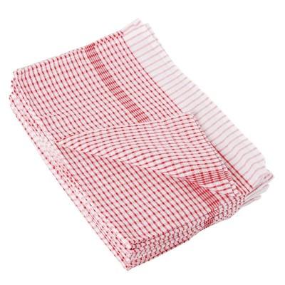 Paños de cocina rojos Vogue. 10 ud. cc595