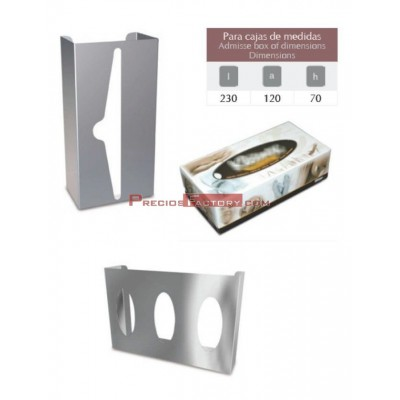 DISPENSADOR TISSUES Y GUANTES INOX