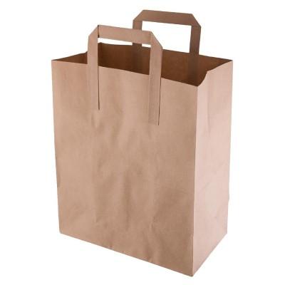 Bolsas de papel reciclado marron Medianas. 250 ud. cf591
