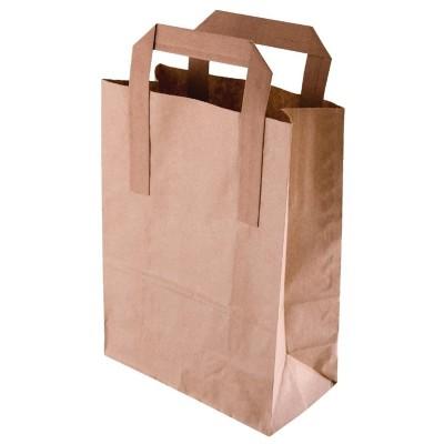 Bolsas de papel reciclado marron Grandes. 250 ud. cf592