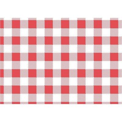 Papel antigrasas cuadros rojos - 190x310mm (Juego 200) cl658