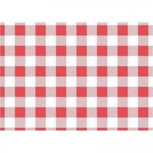 Papel antigrasas cuadros rojos - 310x380mm (Juego 200) cl659