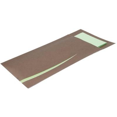 Estuche cuberteria Europochette Bari marron con servilleta (Paquete 125). 125 ud. cp717