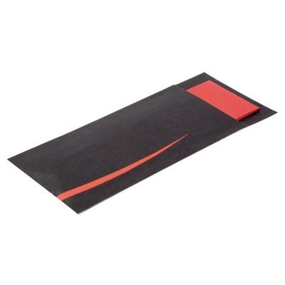 Estuche cuberteria Europochette Bari rojo con servilleta (Paquete 125). 125 ud. cp718