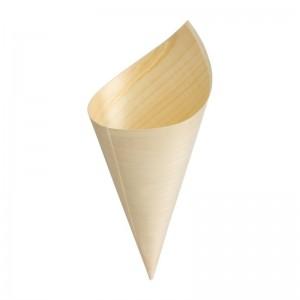 Cucurucho madera abedul Fiesta 170mm (Juego 100). 100 ud. dk389