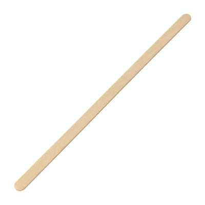 Palillo agitador cafe madera abedul Fiesta 190mm (Paquete 1000). 1000 ud. dk390