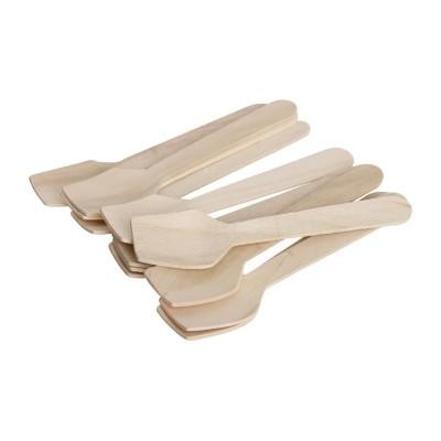 Cucharillas madera abedul para helado Fiesta 96mm (Paquete 100). 100 ud. dk399