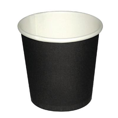 Vasos cafe negros 114ml Olympia. 50 ud. gf019