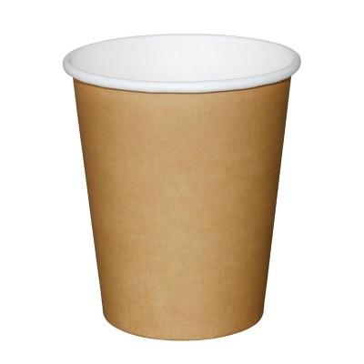 Vasos bebidas calientes marrones 227ml x1000 Olympia. 1000 ud. gf030