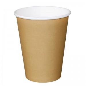 Vasos bebidas calientes marrones 341ml x1000 Olympia. 1000 ud. gf032