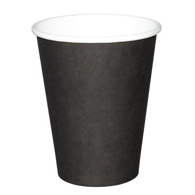 Vasos bebidas calientes negros 227ml x50 Olympia. 50 ud. gf041
