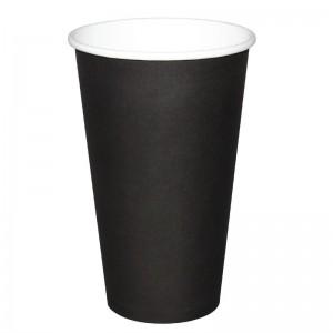 Vasos bebidas calientes negros 455ml x50 Olympia. 50 ud. gf045