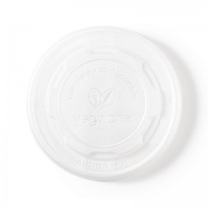 Tapas biodegradables para contenedores de sopa. 500 ud. gf048