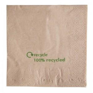 Servilletas recicladas Kraft. 2000 ud. gh031