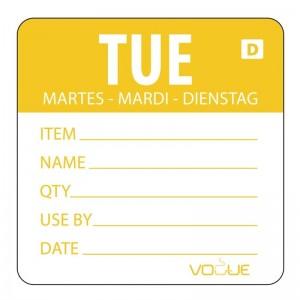 Etiquetas solubles Dia de la Semana Vogue. 250 ud. gh352