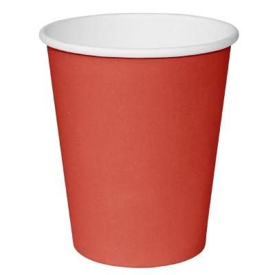 Vaso desechable Fiesta rojo 228ml Tira 50. 50 ud. gp406