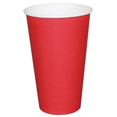Vaso desechable Fiesta rojo 341ml Caja 1000. 1000 ud. gp410