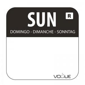 Etiquetas alimentarias codificadas por colores Domingo Vogue. 1000 ud. l930
