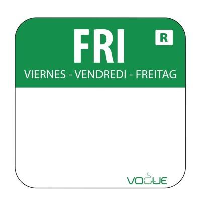 Etiquetas alimentarias codificadas por colores Viernes Vogue. 1000 ud. l935