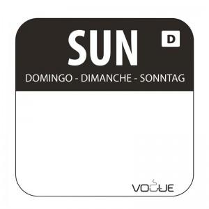 Etiquetas solubles de rotacion de alimentos Domingo u783