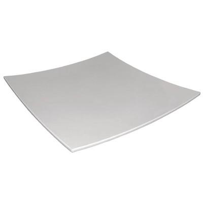 Plato de melamina cuadrado de bordes curvados blanco 305mm Kristallon dp140