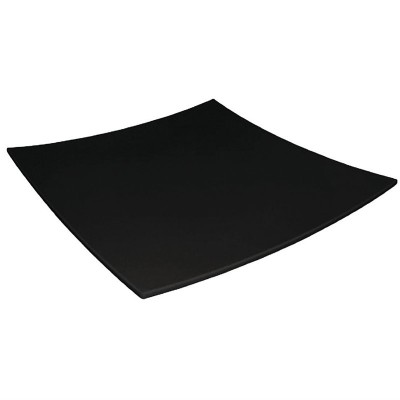 Plato de melamina cuadrado de bordes curvados negro 305mm Kristallon dp142