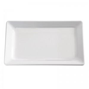 Bandeja Pure de melamina tamaño medio blanca 30mm APS gf122