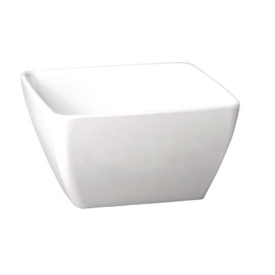Bol Pure cuadrado de melamina blanco 400ml APS gf134