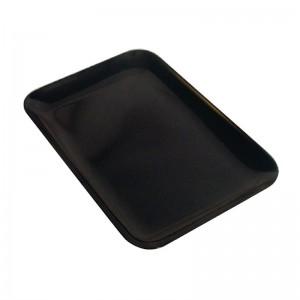 Bandeja rectangular melamina de alto brillo Negro 200 x 290mm Dalebrook j896