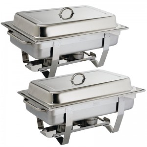 Juego de dos chafing dish Milan Olympia. 2 ud. s300
