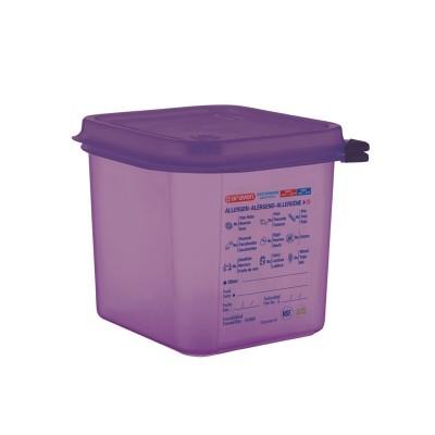 Hermetico Araven para alergenos GN 1/6 2.6Ltr con tapa cm786