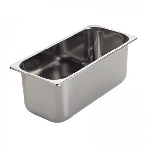Cubeta helado acero inoxidable Gastro M 80(P)x360x165mm gn635