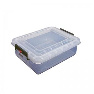 Caja de almacenamiento y tapa con clips de colores 40L Araven j244
