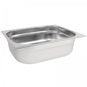 Recipiente Gastronorm acero inoxidable tamaño medio 100mm Vogue k928