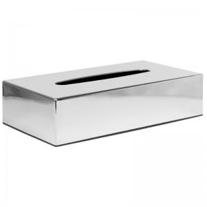 Caja de pañuelos rectangular cromada cf121