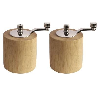 Juego de molinillo de pimienta y sal de bambu Olympia ce246