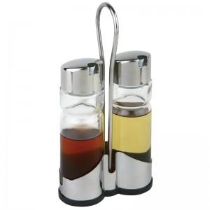 Juego y soporte para aceitera y vinagrera cf296