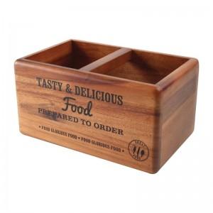 Caja organizadora T&G Woodware de madera con pizarra cl179