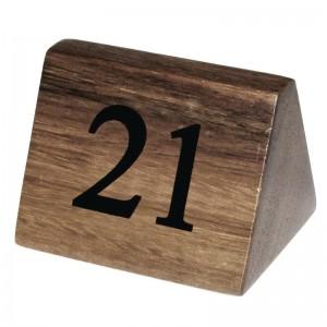 Numeros para mesa Olympia madera 21-30. 10 ud. cl298