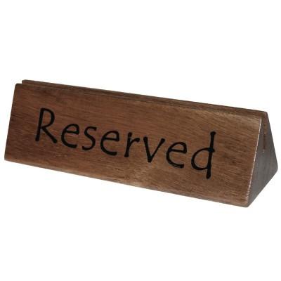 Señal Reservado/Soporte menu madera Olympia cl381