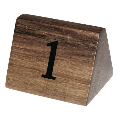 Numeros para mesa Olympia madera 1-10 cl392