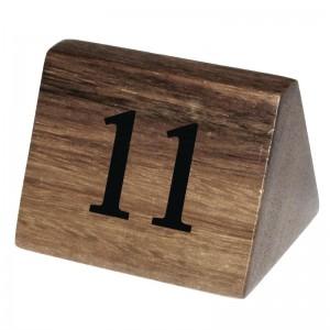 Numeros para mesa Olympia madera 11-20 cl393