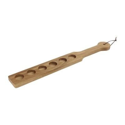 Bandeja madera 6 chupitos Olympia 500x60x20(Al)mm cn508
