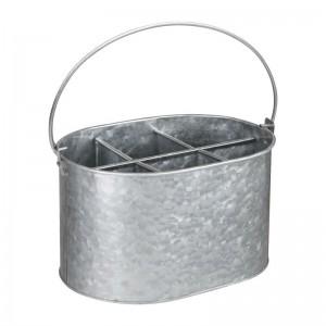 Cubo organizador Olympia acero galvanizado 135(Al)x245x175mm cn520