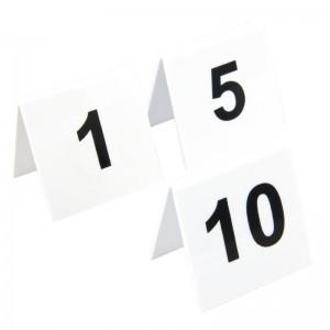 Juego de numeros para las mesas de plastico 1-10 l981