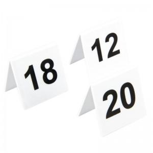 Juego de numeros para las mesas de plastico 11-20 l982