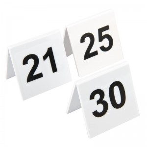 Juego de numeros para las mesas de plastico 21-30 l983