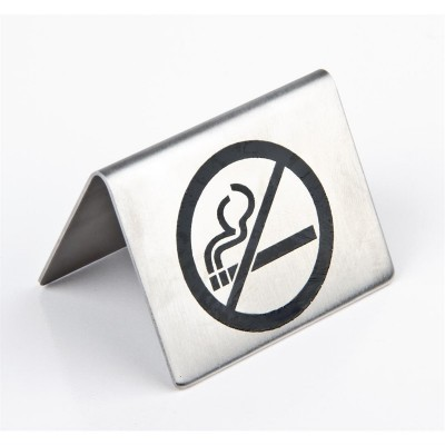 Simbolos de mesa de acero inoxidable u044
