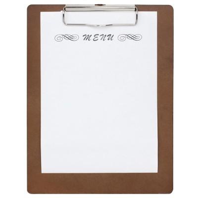 Porta-menu clip Olympia A4 madera cl174