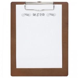 Porta-menu clip Olympia A5 madera cl175